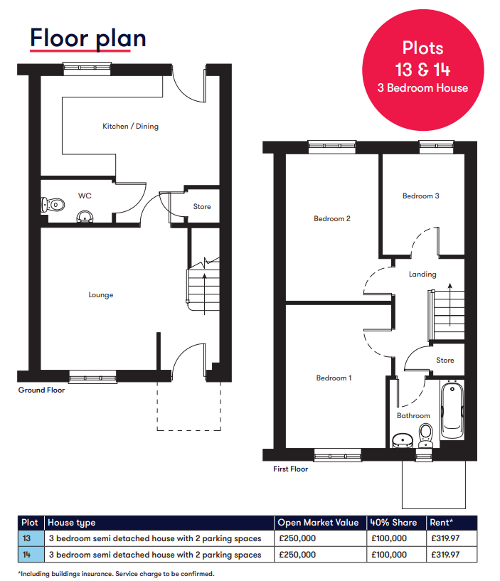 Alfred's Gate 3 bedroom floor plan
