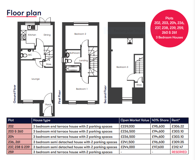Cranbrook 3 bedroom floor plan