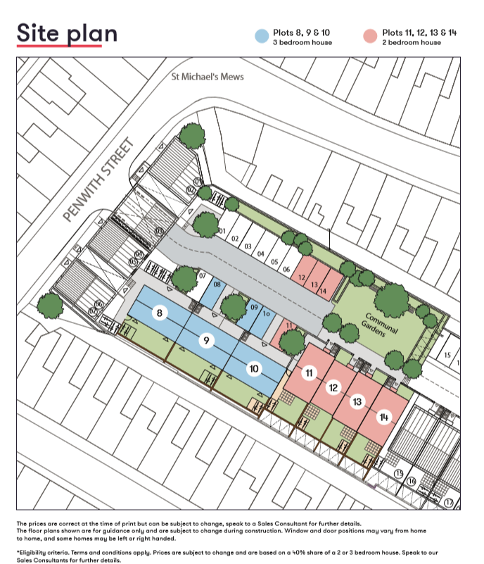 Camberwell Vean Site Map