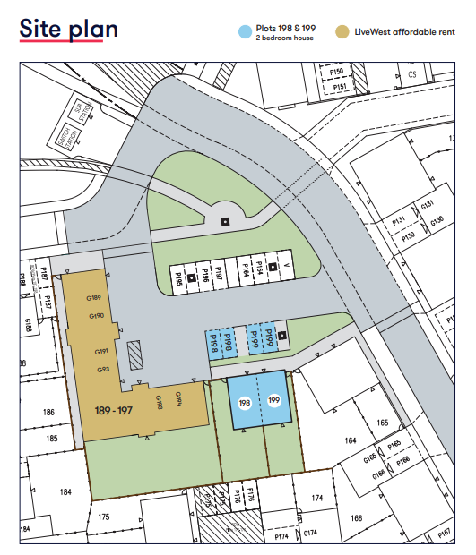 Tews Lane Site Map