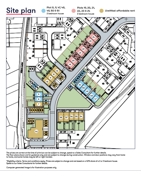Tamerton Foliot Site Plan