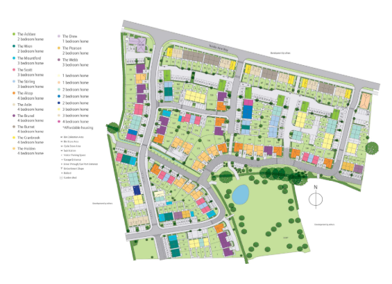 Kingfisher Green Site Map