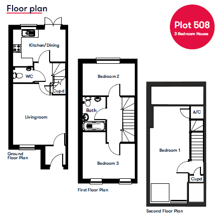 Plot 508 Saltram Meadows Floor Plan