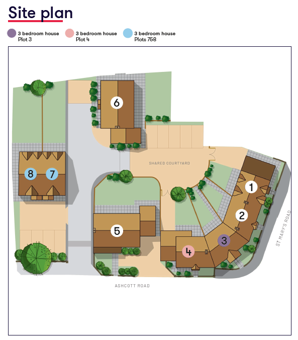 Site Map Farriers Close Meare