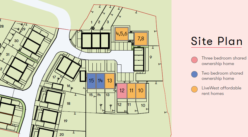 The Boundary Truro Shared Ownership Site Map