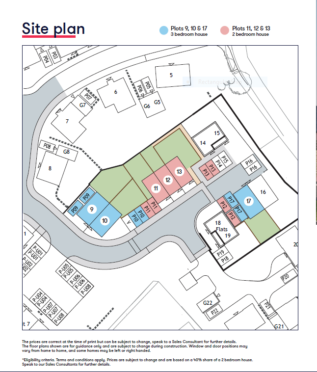 Blackawton Site map