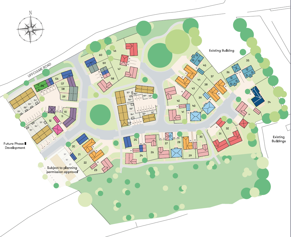 Lucombe Park Site Map