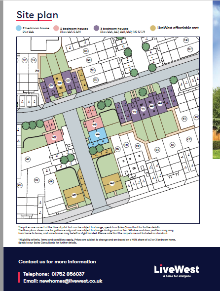 Saltram Meadows Site Plan