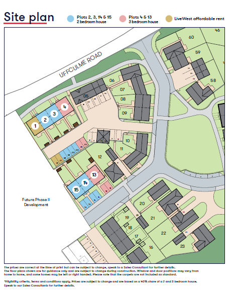Uffculme Site Map