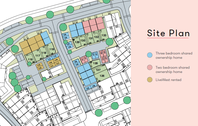 Gardenia Place Site Map Shared Ownership