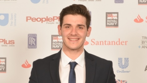 Ross Jasper at the National Apprenticeship Awards