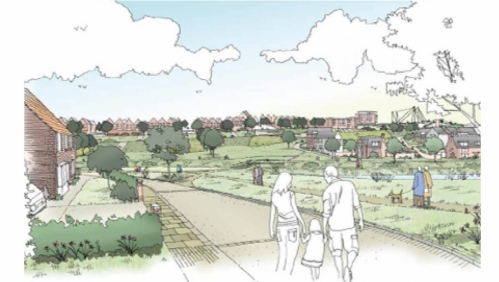 Artists impression of the Exeter development